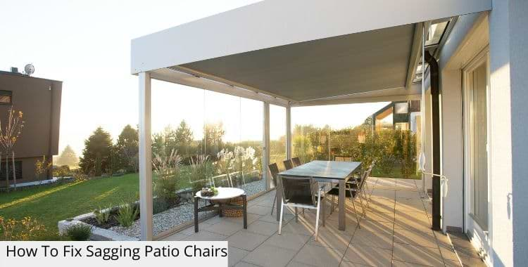 How To Fix Sagging Patio Chairs