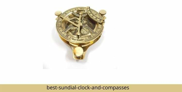 Sundial Clock And Compasses